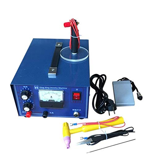 BANNAB 2 In 1 Schmuck-Schweißmaschine Spot Welder Pulse Sparkle Spot Welder, Puls-Electric Gold Silber Silber Platinum High-Grade Stahl Mit Handle-Tool,50A (Schmuck-schweißer)
