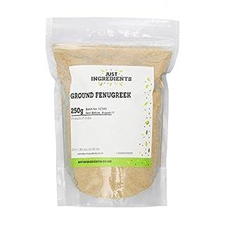 JustIngredients Bockshornklee gemahlen, Fenugreek Ground, 2er Pack (2 x 250 g)