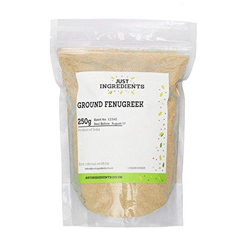 JustIngredients Essential Fenogreco Molido   - 5 Paquetes de 250 g