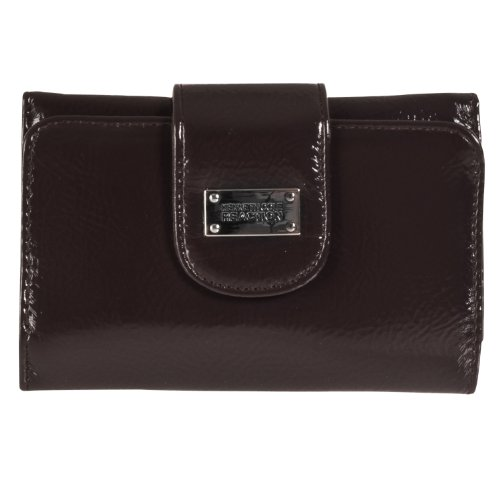 Kenneth Cole Reaction Womens Tri-fold Clutch Wallet, Brown (Cole Clutch Kenneth)