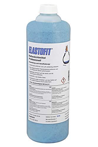 ELASTOFIT Professionell Reifendichtmittel 1000 ml Flasche Ventilausdreher Handschuhe