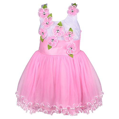 Wish Karo baby girls Frock Dress DN fr195bpnknw (12-18 Mths)