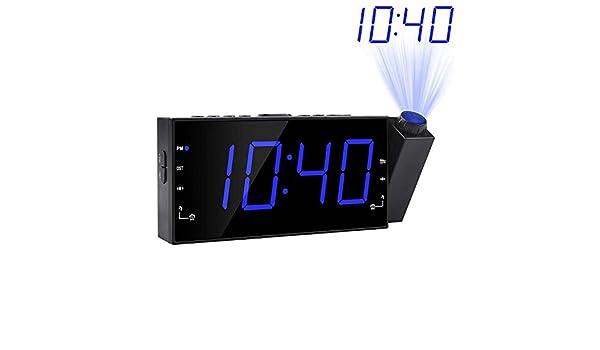 ZLSANVD Radio réveil Multifonction à Projection rotative à