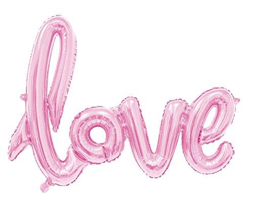 Lukis Love Buchstaben Ballons für Hochzeit Dekoration Folienballon Luftballon 108x65.5cm Rosa