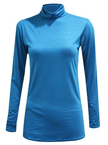 Plus Size Ladies Polo Neck Long Sleeve Womens Stretch Bodycon Top Sizes 16 – 26