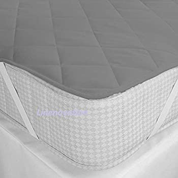 """RRC Cotton Water Resistant Mattress Protector - Queen Size, Quilted Mattress Protector - (60"""" x 78"""") (Grey)"""