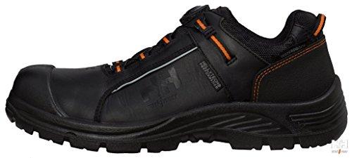 Helly Hansen 78212_992-45 Alna Chaussures de sécurité Cuir Boa Ww Taille 45 Noir/Orange Noir/orange