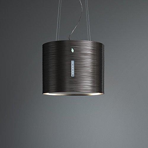 Falmec Twister E.ion System Titan Design Dunstabzugshaube/Inselhaube/5 Jahre Garantie/Titan 45 cm/450 m³/h