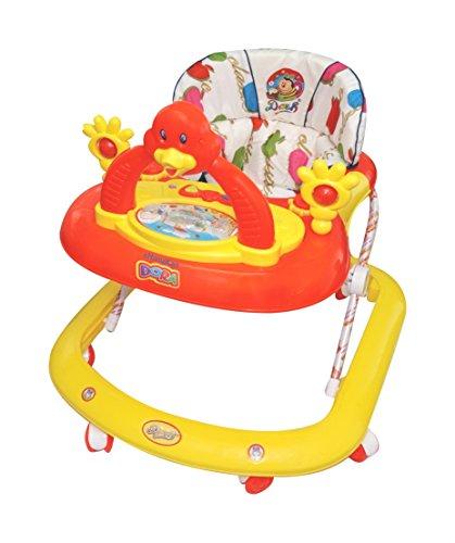 Dash Multicolour Kid's Musical Dora Activity Walker - Height Adjustable - 9 Months + Baby - Wide Base