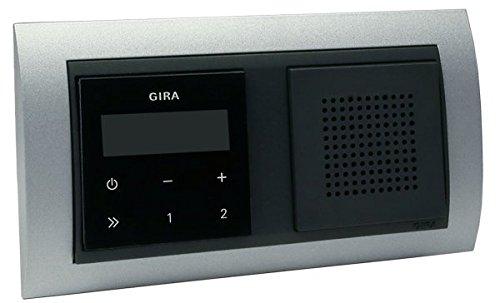Gira Unterputz-Radio RDS mit Lautsprecher und Rahmen Event alu - schwarz / anthrazit