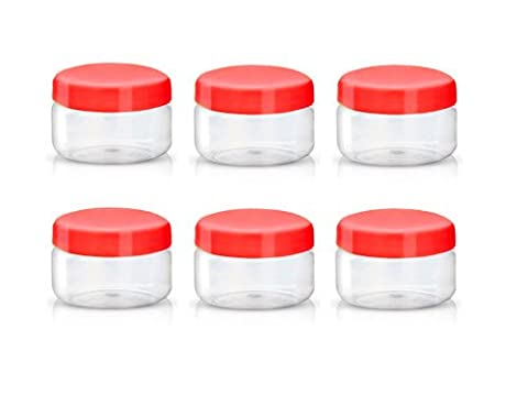 Sunpet Food Storage Canisters, Plastic, Red, 50 ml, Small, Pack