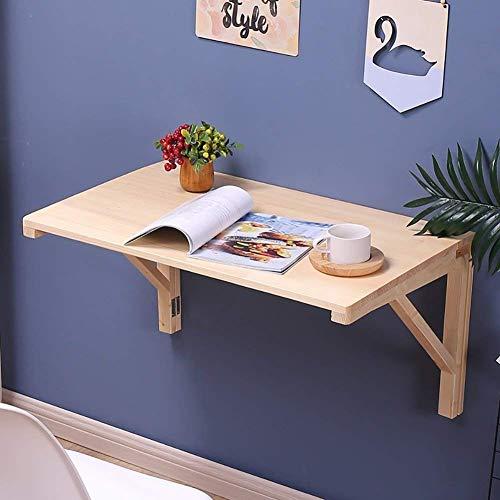 vholz Tisch Drop-Leaf Folding Esstisch Computer Schreibtisch Lernen Tisch Wand Buch Schreibtisch Tabelle Größe Optional (Größe: 100 * 50cm) (Größe : 60 * 40cm) ()