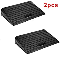 KingSaid Industry 2PCS Rubber Kerb Ramps Cars Truck Mobility Wheelchair Disabled Access Passageway