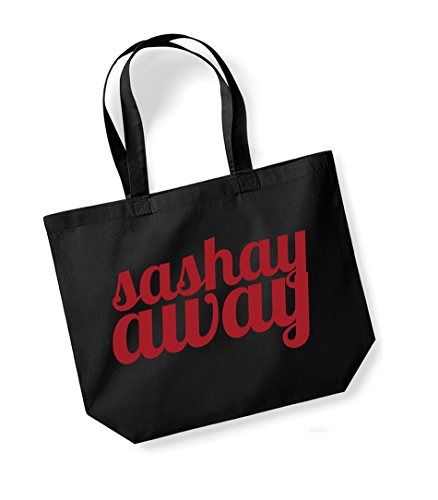 Sashay Away vs Shante You Stay - Double Sided - Large Canvas Fun Slogan Tote Bag Black/Red