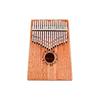 Wooden 17 key Kalimba with Mahogany Portable Thumb Piano Mbira Marimba Sanza of Attached Ore Metal Tines With bag Gift idea