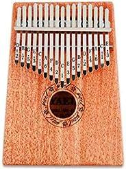 بيانو الابهام\ مبيرا\ ماريمبا\ سانزا\ كاليمبا محمولة ذات 17 مفتاح مصنوعة من خشب الماهوغاني مع شواك متصلة فيه م