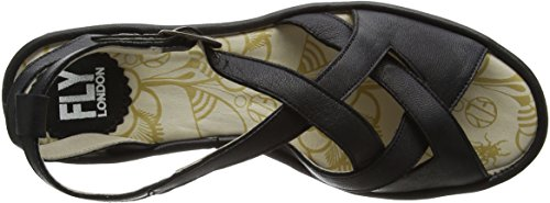 FLY London Damen Rand728fly Wedge Sandlen Schwarz (Black 000)