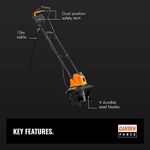 VonHaus Electric 1050W Tiller – Garden Soil Cultivator/Rotavator – 32cm Cutting Width