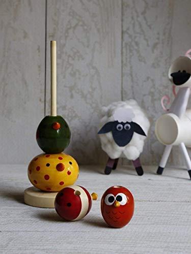 rner bunter stapelnder Spielzeugturm für pädagogische Wooden Toy Tower for kids Spielwaren und Spiele des Kindkindbabys zum Geschenken für Kinder ()