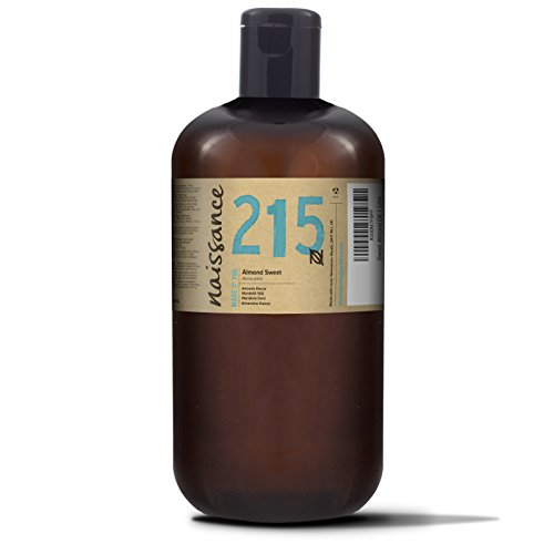 Naissance Sweet Almond Oil (no. 215) 1 Litre - Pure, Natural, Cruelty-Free, Vegan, No GMO - Ideal for Massage, Skincare & Haircare