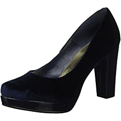 SHOE THE BEAR Damen Alberte V Plateau Pumps, Blau (Navy), 39 EU