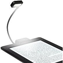 Lampade da libro, iKross Dual LED clip-on luce da lettura per lettori di eBook, compresse, palmari, telefoni cellulari-Nero