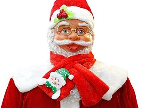 Weihnachtsschal, Fascigirl Schal Schneemann Weihnachtsmann Weihnachtsgeschenk Dekoration Schal für Weihnachtsfeier
