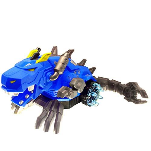 Happy Event Elektrisches Spray Dinosaurier Drachen Elektrischer Roboter Haustier mit Musik Licht Kinder Spielzeug Geschenk (Blau)