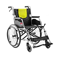 Wheelchair Aluminum alloy wheelchair Elderly wheelchair Folding wheelchair Manual trolley