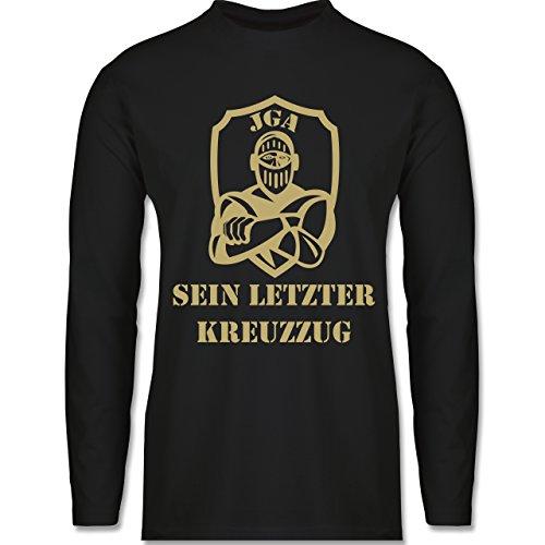 Shirtracer JGA Junggesellenabschied - sein Letzter Kreuzzug - Herren Langarmshirt Schwarz