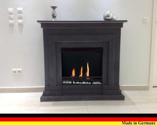 Preisvergleich Produktbild Ethanol und Gelkamin Modell Berlin Deluxe Granit dunkel incl. regulierbaren Brenner Schwarz 3 Liter