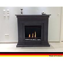 Ethanol Und Gelkamin Modell Berlin Deluxe Granit Dunkel Incl. Regulierbaren  Brenner Schwarz 3 Liter