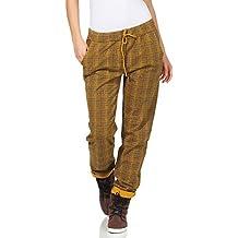 9b84ea7813 ZARMEXX Pantalones de Mujer Pantalones de chándal de algodón Plaid 85095 en  el Interior de Novios