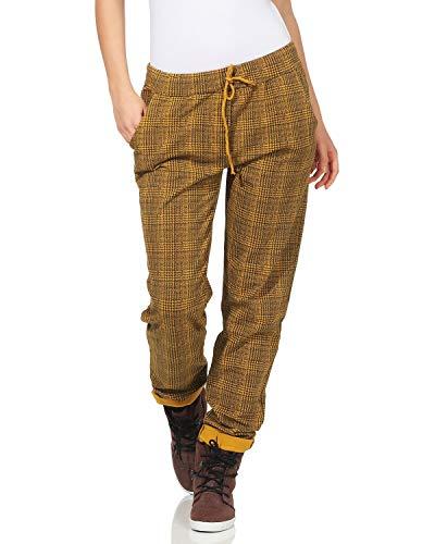 Pantalones de cuadros amarillos para Mujer