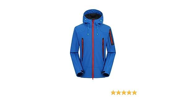 Ynport Crefreak Giacche Softshell Uomo Trekking Sci Impermeabile Cappotto Antipioggia Abbigliamento da Trekking per Uomo Giacche Antivento in Fleece