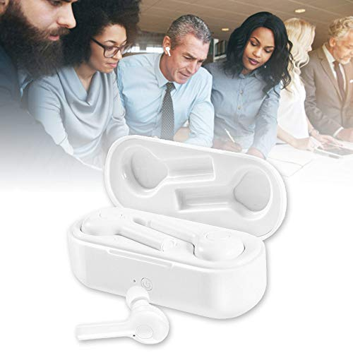 MOGOI Language Translator Headset, 2 in 1 in-Ear Instant Voice Translator Earbuds for iOS & Android, Wireless Noise Cancelling Headphone with Mic Supports 33 Languages for Travelling Business,White