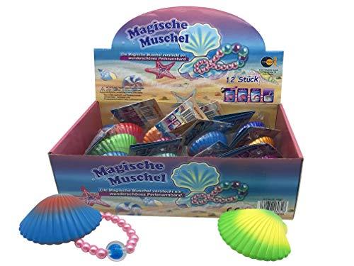 JustRean Toys 1 Magische Muschel mit Perlenkette | Perlen Kette Mitgebsel Spielzeug Kinder-Geburtstag Tombola