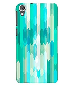 Citydreamz Cool Blue & White Hard Polycarbonate Designer Back Case Cover For HTC DESIRE 826/ HTC DESIRE 826 (CDMA+GSM)