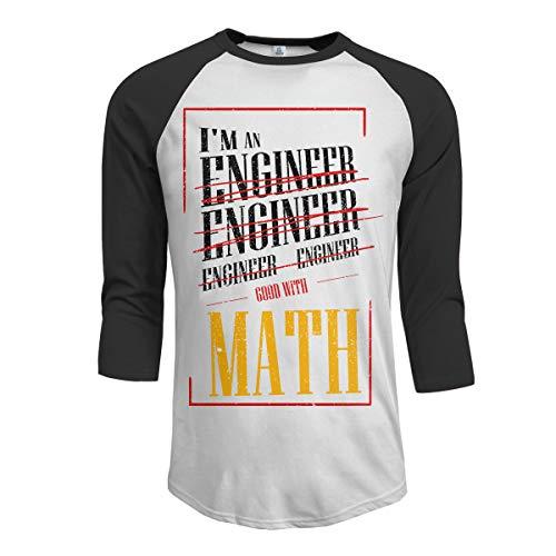 1449740f0a Moda Soy Ingeniero Bueno con Las matemáticas Funny Sarcasm Mangas raglán  para Hombres Camisetas de béisbol Funny Engineering Tshirts Confía en mí IM  un ...