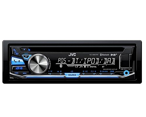 Auto Radio JVC DAB Bluetooth USB CD incl DAB Antenne variocolor passend für Skoda Fabia 6Y Facelift 8/04 > 12/07 (Unit Head Jvc Car-audio)