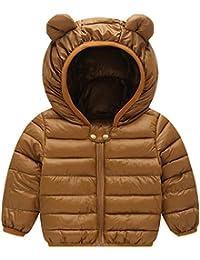 Bambino Piumino Inverno Giacche di piuma Cappotto con Cappuccio Ragazzi  Ragazze Leggero Giubbotti 630574d7204