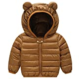 Baby Puffer Jacket Winter Hooded Coat Puffer Jacket Lightweight Outerwear Outfits