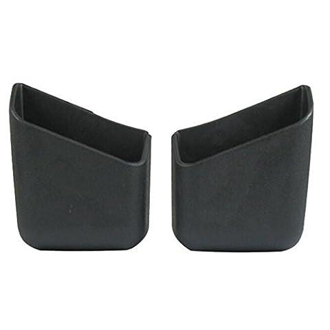 Gaddrt Universal voiture auto accessoires lunettes organisateur rangement boîte peut, 2Pcs (Noir)