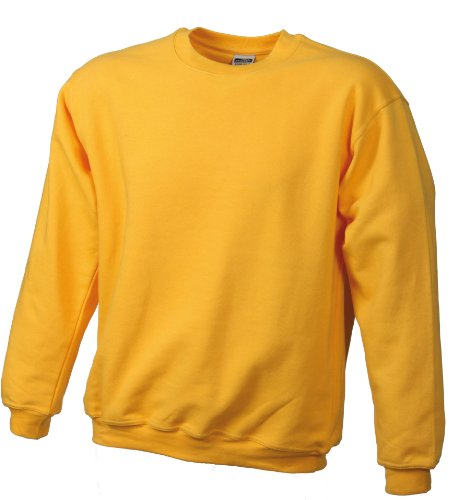 James & Nicholson Herren Sweatshirt Gelb (gold-yellow)