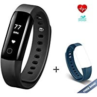 Fitness Tracker Arbily Vigorun4.0 Orologio Cardiofrequenzimetro Impermeabile IP68 Fitness Smart Watch Braccialetto Activity Tracker con allarme/Pedometro/calorie/Sleep Tracker cinta BLUE è un dono