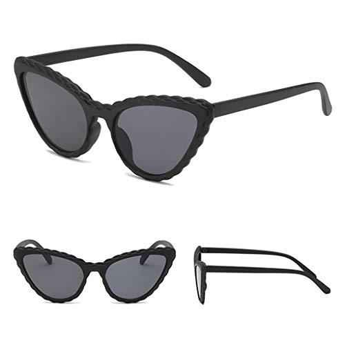 FKY Sonnenbrille Damen Floral Cat Eye Sonnenbrille Rahmen Persönlichkeit UV400 Dame Damenmode Dekoration Marke Designer Candy Farbe Trend Geschenke Charms Ornamente