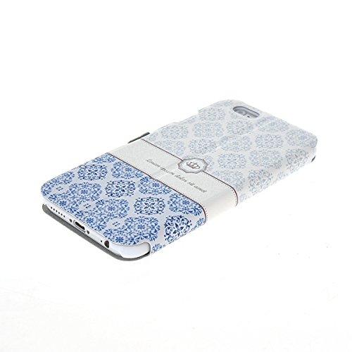 MOONCASE Coque en Cuir Housse de Protection Étui à rabat Case pour Apple iPhone 6 Plus A18133