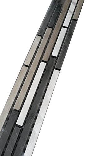 Aluminium Stäbchen Mosaik Bordüre 5x30 Alu Schwarz Silber Bronze Fliesen Metall B810