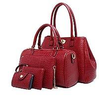 42f7ecef5148 Fashion Multi purpose five pieces Set shoulder bag handle female shandbag  Totes Satchel Bag MY2 red