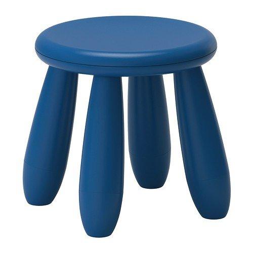 IKEA MAMMUT Kinderhocker in dunkelblau